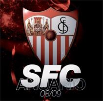 ANUARIO OFICIAL SEVILLA FC 08/09. Un proyecto de Diseño de Emilio Tallafet - Miércoles, 22 de julio de 2009 10:57:59 +0200