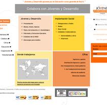 portal jovenesydesarrollo.org. A Design, Software Development, and UI / UX project by Elena Dalmau Castro - Oct 05 2009 12:54 PM