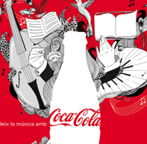 Coca Cola para L´Auditori . A Design, Illustration, and Advertising project by amaia arrazola - 10-03-2010