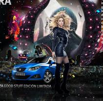 Shakira Seat GoodStaff. Um projeto de Publicidade, Desenvolvimento de software, 3D e Informática de juanan jimenez - 15-03-2010