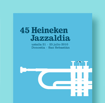 45 Heineken Jazzaldia. A Illustration, and Graphic Design project by La caja de tipos  - May 07 2010 12:00 AM