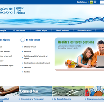 Website aguas de barcelona. A Design, Software Development, UI / UX&IT project by Marc Garcia - Aug 20 2010 12:14 PM
