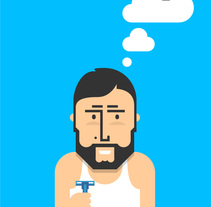 Thinking Vueling. A Illustration, and Advertising project by Joel Lozano         - 18.10.2010