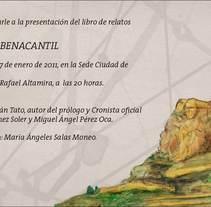 Presentación 'Historias bajo el benacantil'. Um projeto de Design e Publicidade de Símbolo Ingenio Creativo         - 17.01.2011