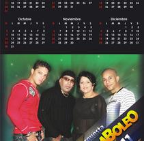 Calendario promocional orquesta Bamboleo 2 (tiro y retiro). Un proyecto de  de Eduardo A. González         - 11.04.2011
