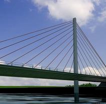 Puente atirantado. Um projeto de 3D de Atres-studio         - 09.05.2011