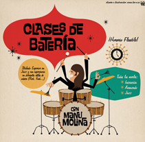 Clases de Batería. A Illustration, and Advertising project by Lore Vigil-Escalera aka (LOV-E) - 18-05-2011