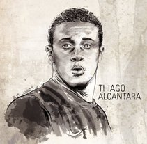 Thiago Alcántara. A Illustration project by Xavier Gironès - Jul 01 2011 10:18 AM