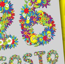 Propuesta cartel BATALLA DE FLORES 2011. Um projeto de Design e Publicidade de Javier Melchor Cea         - 12.07.2011