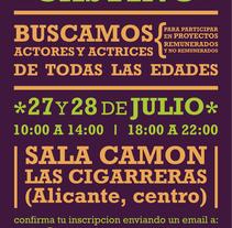 Cartel Macrocasting 1 Shakes Productions. Un proyecto de Diseño, Publicidad, Cine, vídeo y televisión de Dámaris Muñoz Piqueras - 25-07-2011