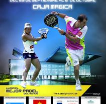 cartel padel pro tour Madrid 2011. Um projeto de  de Carlos Madrigal Prieto         - 18.10.2011