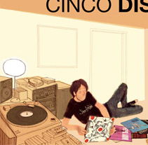 Cinco discos. A Illustration project by Martin Tognola - 20-12-2011