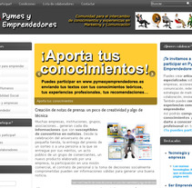 Pymes y Emprendedores. A Design, Advertising, UI / UX&IT project by Ginés García Gómez         - 05.12.2011