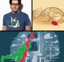 Diseños serigrafia 2ª parte. A Design&Illustration project by Jorge de la Fuente Fernández         - 22.12.2011
