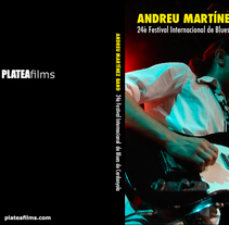 Portada y cd del concierto de Andreu Martínez Band en el XXIV Festival Internacional de Cerdanyola. Proyecto para PLATEAfilms. A Design, Music, and Audio project by Mar Salesi Massoni         - 16.01.2012