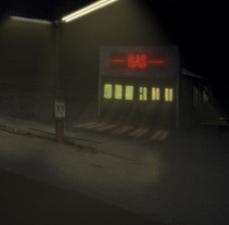 Matte Painting Gas Station. A Illustration project by Pablo Arenales - Jan 17 2012 03:31 PM