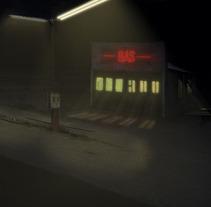 Matte Painting Gas Station. Un proyecto de Ilustración de Pablo Arenales - 17-01-2012