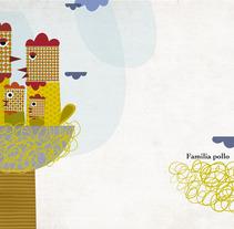 Familia Pollo. A Illustration project by pedrenland         - 22.02.2012