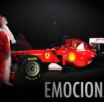 Ferrari y Banco Santander :: Animaciones para Digital Signage . Un proyecto de Publicidad, Motion Graphics, Instalaciones, Cine, vídeo, televisión y UI / UX de Rubén Mir Sánchez         - 02.04.2012