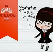 Campaña paraentrar en The Social Media School. Um projeto de Ilustração de Dari Rojas - 03-04-2012
