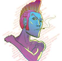 Punk.. Um projeto de Ilustração de Julio Michelon         - 17.04.2012