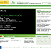 Premios Fundación Biodiversidad 2010. A Design, Advertising, Software Development, Photograph, Film, Video, TV, and UI / UX project by seven  - Apr 17 2012 05:28 PM