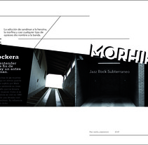 DISEÑO EDITORIAL - MORPHINE -. A Design, Illustration, and Photograph project by Hernán Bosich         - 01.05.2012