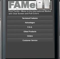 FAMe Mobile (E-Menu). Un proyecto de Diseño, Desarrollo de software, UI / UX e Informática de Ladislao J. García Patricio         - 31.05.2012