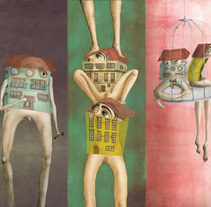 Hombre-casa. Un proyecto de Ilustración de Nanu González - 07-06-2012