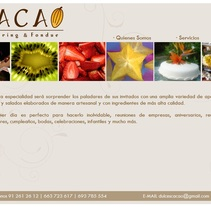 Página Web Cacao Catering & Fondeu. A Design, Software Development, Photograph&IT project by Jose Manuel Couto Collazo         - 08.06.2012