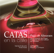 La Favorita: Cartel Catas en la calle. A Design, and Advertising project by Paco Mármol - Jun 08 2012 07:59 PM