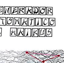 Generador Automático de Haikus. Um projeto de Design, Ilustração, Fotografia e Cinema, Vídeo e TV de Aránzazu  García Martín - 11-06-2012