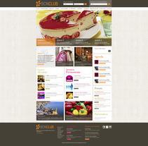 Direction Artistique de la page web de BCNClub. Um projeto de Design de Laure Chassaing - 18-06-2012