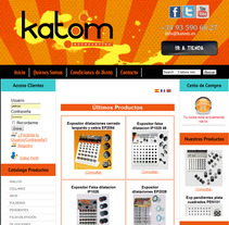 Web Katom Accesories. A Design, Illustration, and Software Development project by Ruben  Vargas Martin - 18-06-2012