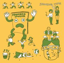 Ilustración de habitat. Hule de mesa.. Um projeto de Ilustração de Jose Martínez Calderón - 03-07-2012