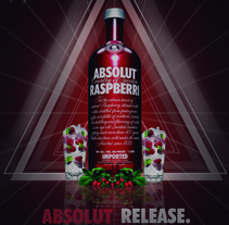 Absolut Raspberry. A Design, and Advertising project by Ivan Rivera         - 16.08.2012