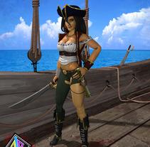 Pirata, personaje 3D. A 3D project by Antonio Jiménez Rodríguez         - 07.09.2012