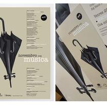 Novembro con Música 2011. Um projeto de Design, Ilustração, Publicidade, Música e Áudio e Fotografia de Gende Estudio         - 04.10.2012