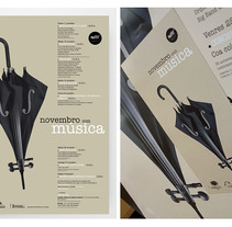 Novembro con Música 2011. A Design, Illustration, Advertising, Music, Audio, and Photograph project by Gende Estudio         - 04.10.2012