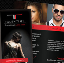 Talentime...Specializing in Latino Talent. A Design, and Advertising project by Marcos Camacho García - 05-10-2012
