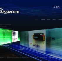Web Saguecom. A  project by Chakrani - 17-10-2012