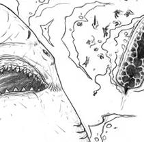 Great White Shark comic pencils. Un proyecto de Ilustración de Marco Antonio Paraja Corbato         - 25.10.2012