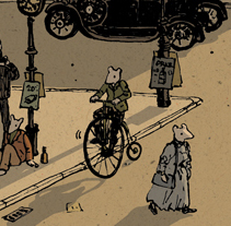 La ciudad de los ratones. A Illustration project by Nicolás Castell         - 20.11.2012