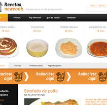 Recetas Newcook. Un proyecto de Diseño y UI / UX de Laura Blanco García         - 07.12.2012