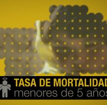Tasa de mortalidad menores 5 años. Um projeto de Design, Motion Graphics e Cinema, Vídeo e TV de Francesc Risalde - 09-01-2013