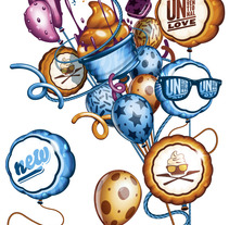 Balloons - Illustration. A Design, Illustration, and Advertising project by david sánchez cobos - 07-03-2013
