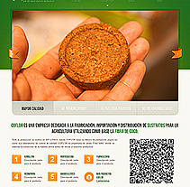 Agricultura. Diseño del sitio web . A Design, Software Development, and Photograph project by Alexander  - 23-03-2013