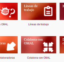 Omal Website. A Design, Web Design, and Web Development project by Laura Bustos         - 07.04.2013