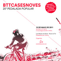 Cartell Pedalada Btt Cases Noves 2011. A Design, and Photograph project by Albert Fernández         - 19.04.2013