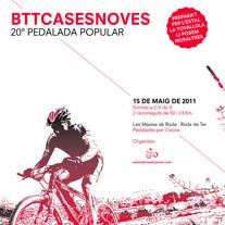 Cartell Pedalada Btt Cases Noves 2011. Un proyecto de Diseño y Fotografía de Albert Fernández         - 19.04.2013